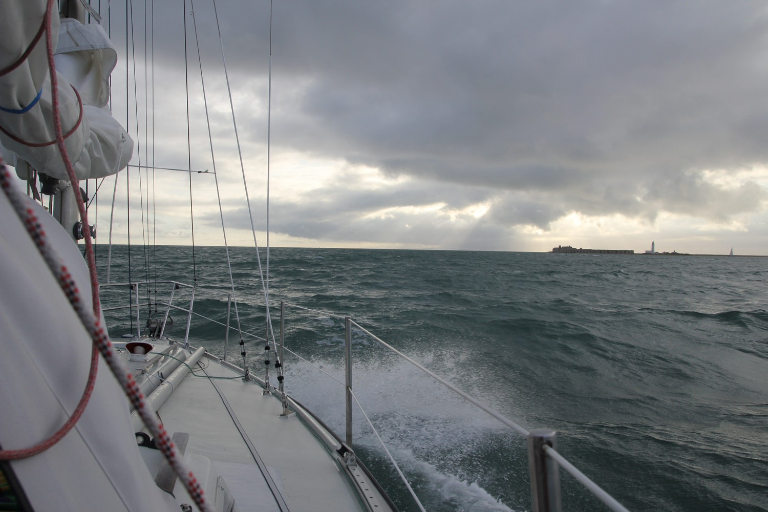 Driving trough the Needles Channel
