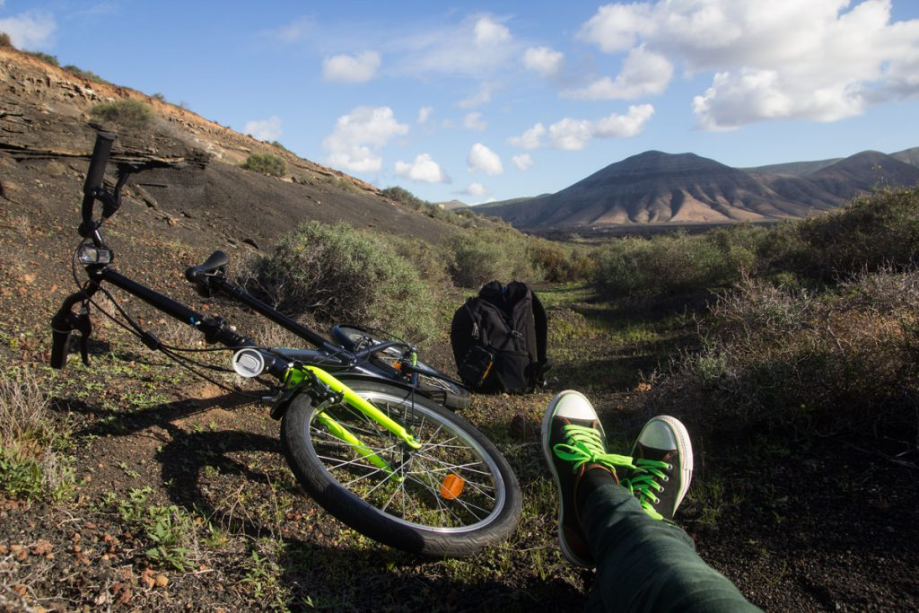 Teresa took our folding bike for another exploration of Lanzarote