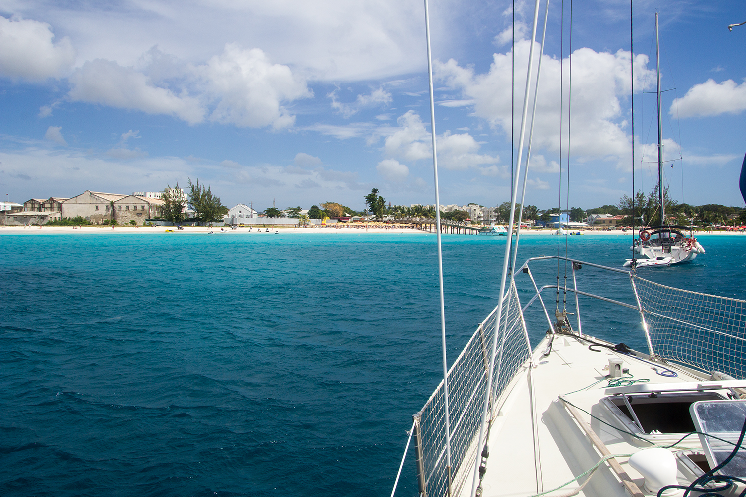 Anchored in the Carlisle Bay, Barbados